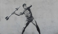 banksy goes to the olympics | messerwerferin